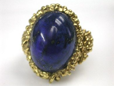 68700-September/Lapis Ring Cynthia Findlay Antiques CFA1208150