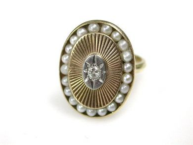 68700-September/Pearl Ring Cynthia Findlay Antiques CFA1208146