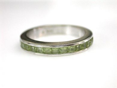 68700-September/Peridot Eternity Band Cynthia Findlay Antiques CFA1208158