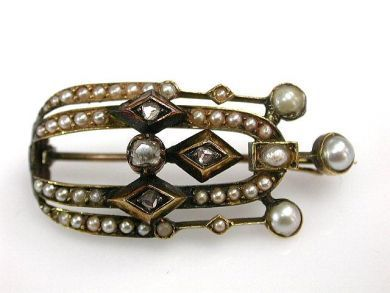 68700-September/Victorian Pearl Brooch Cynthia Findlay Antiques CFA1208238