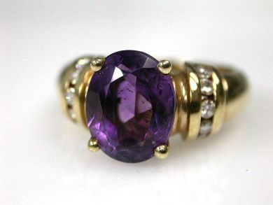 68712-November/Amethyst Solitaire Cynthia Findlay Antiques CFA1209276