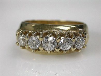 Vintage 5 Diamond Ring