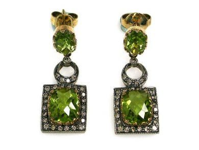 68712-November/Peridot Earrings Cynthia Findlay Antiques CFA1209105C