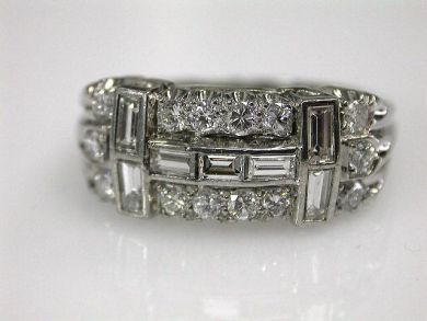 68712-November/Platinum and Diamond Ring Cynthia Findlay Antiques CFA120937