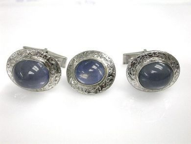 68712-November/Sapphire Cufflinks Cynthia Findlay Antiques CFA120921