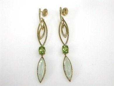 Peridot and Prasiolite Earrings