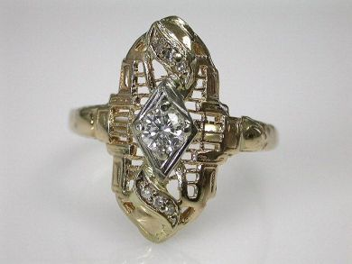 69101-November/Antique Diamond Ring Cynthia Findlay Antiques CFA1209124
