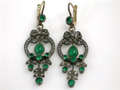 69101-November/Antique Emerald Earrings Cynthia Findlay Antiques CFA1210341