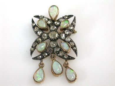 69101-November/Antique Opal Brooch Cynthia Findlay Antiques CFA1210176