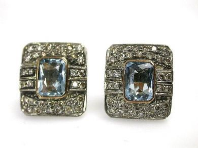 69101-November/Aquamarine Earrings Cynthia Findlay Antiques CFA121056C