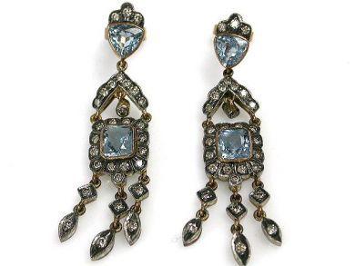 69101-November/Aquamarine Earrings Cynthia Findlay Antiques CFA121058C