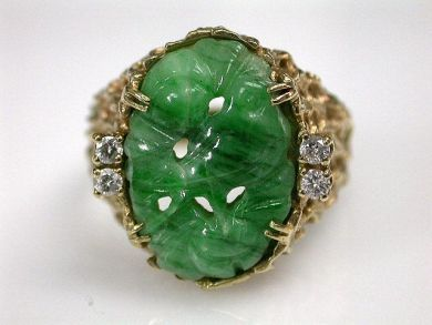 69101-November/Carved Jade Ring Cynthia Findlay Antiques CFA121097