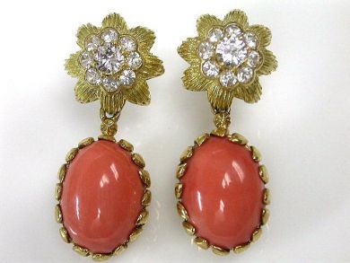 69101-November/Coral Earrings Cynthia Findlay Antiques CFA1210157