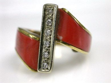 69101-November/Coral Ring Cynthia Findlay Antiques CFA1210109