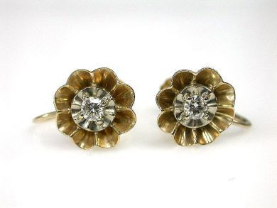 69101-November/Diamond Earrings Cynthia Findlay Antiques CFA1210156