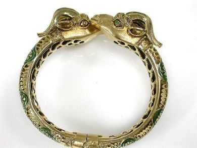 69101-November/Double Ram Head Bangle Cynthia Findlay Antiques CFA1210158