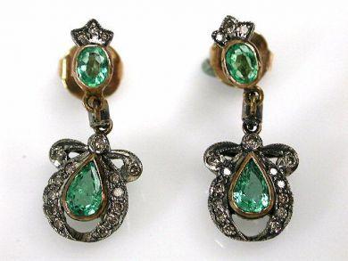 69101-November/Emerald Earrings Cynthia Findlay Antiques CFA121051C