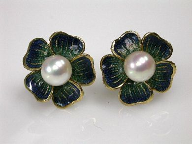 69101-November/Enamel Earrings Cynthia Findlay Antiques CFA1210149