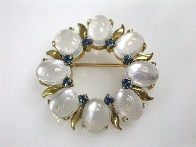 69101-November/Moonstone Circular Brooch Cynthia Findlay Antiques CFA121059