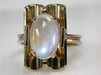 69101-November/Moonstone Ring Cynthia Findlay Antiques CFA1210106