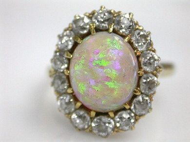 69101-November/Opal Cluster Cynthia Findlay Antiques CFA1210135
