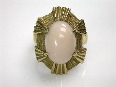69101-November/Pink Coral Ring Cynthia Findlay Antiques CFA121071