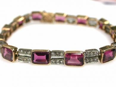 69101-November/Pink Tourmaline Bracelet Cynthia Findlay Antiques CFA121050C