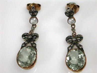69101-November/Prasiolite Earrings Cynthia Findlay Antiques CFA121046C