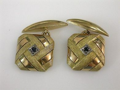 69101-November/Sapphire Cufflinks Cynthia Findlay Antiques CFA1210167