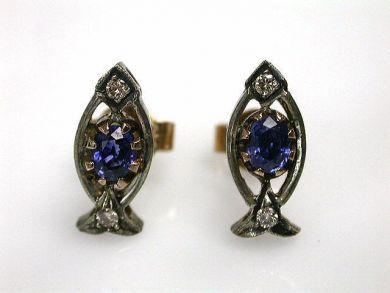 69101-November/Sapphire Earrings Cynthia Findlay Antiques CFA121049C