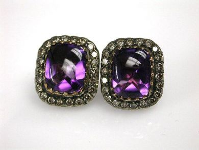 69200-November/Amethyst Earrings Cynthia Findlay Antiques CFA1210262C