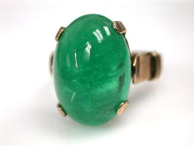 69200-November/Cabochon Emerald Ring Cynthia Findlay Antiques CFA1210384