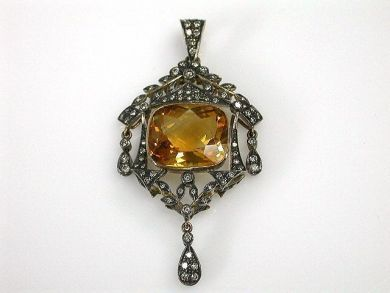69200-November/Citrine Pendant Cynthia Findlay Antiques CFA1210268