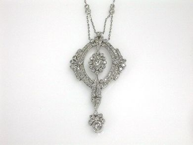 Edwardian Inspired Diamond Pendant