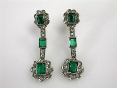 69200-November/Emerald Earrings Cynthia Findlay Antiques CFA1210375
