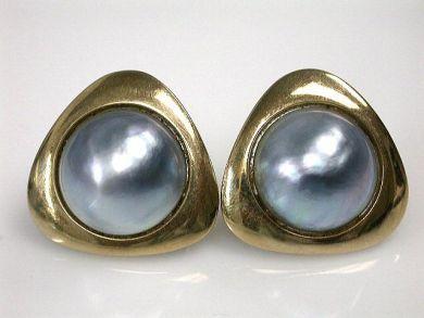 69200-November/Grey Pearl Earrings Cynthia Findlay Antiques CFA1210393