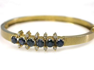 69200-November/Sapphire Bangle Cynthia Findlay Antiques CFA1210276