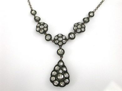69367-December/Antique Diamond Necklace Cynthia Findlay Antiques CFA121278