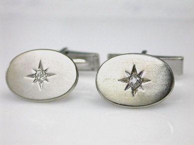 69367-December/Diamond Cufflinks Cynthia Findlay Antiques CFA121286