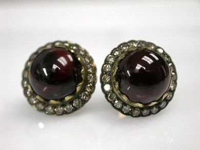 69367-December/Garnet Earrings Cynthia Findlay Antiques CFA1210324C