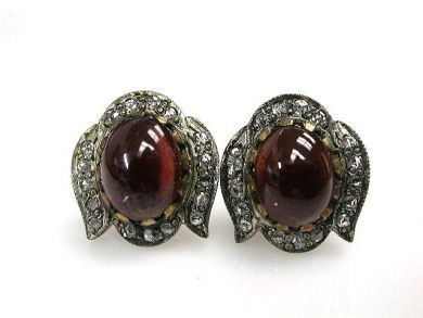 69367-December/Garnet Earrings Cynthia Findlay Antiques CFA1210325C