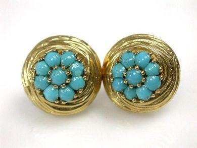 69367-December/Turquoise Earrings  Cynthia Findlay Antiques CFA1210399