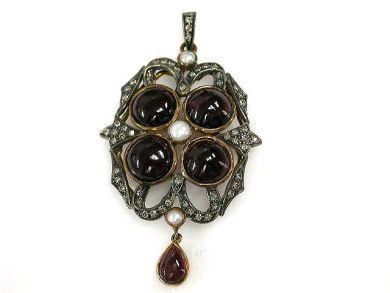 69367-December/Victorian Style Garnet Pendant Cynthia Findlay Antiques CFA121275