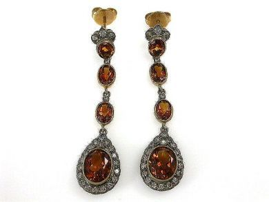 69462-January/Citrine Earrings Cynthia Findlay Antiques CFA1211117C