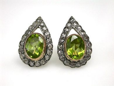 69462-January/Peridot Earrings Cynthia Findlay Antiques CFA1211118C