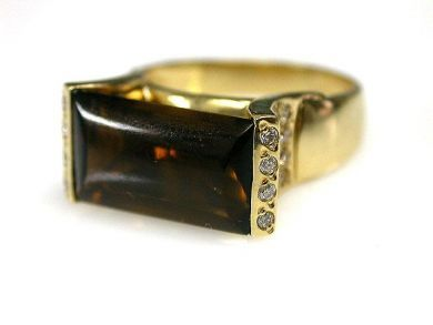 69462-January/Smoky Quartz Ring Cynthia Findlay Antiques CFA1211152