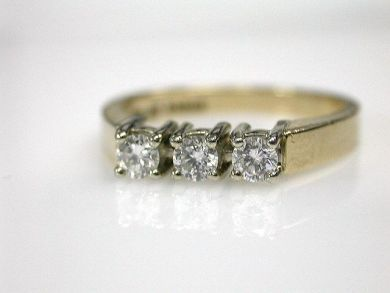69462-January/Three Stone Diamond Ring Cynthia Findlay Antiques CFA1211313