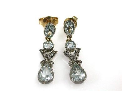 69488-November/Aquamarine Earrings Cynthia Findlay Antiques CFA1211212