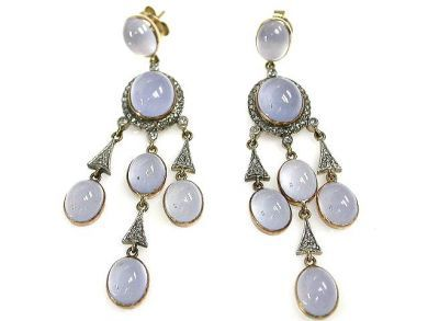 69488-November/Chalcedony Earrings Cynthia Findlay Antiques CFA1211211