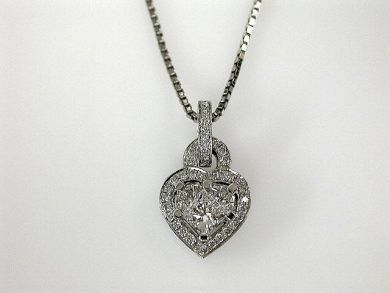 69488-November/Diamond Heart Pendant Cynthia Findlay Antiques CFA1207352